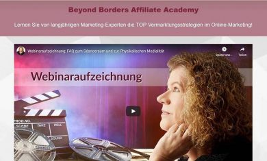 Affiliate Seite Beyond Borders